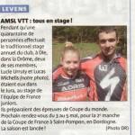 AMSL VTT Levens coupures de presse 2013